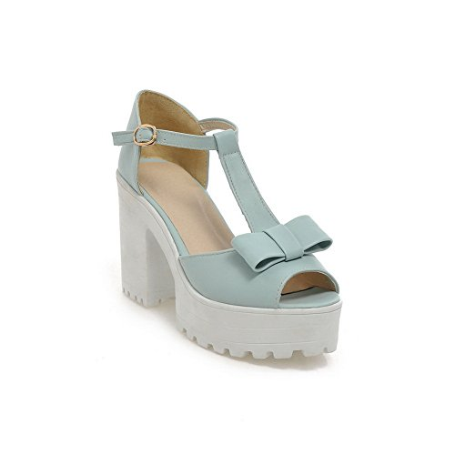 Adee Womens Bows Buckle Polyurethane Sandals Blue AyPDLJ1j