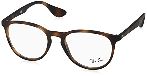 Ray-Ban RX7046 Rectangular Eyeglass Frames, Rubber Tortoise/Demo Lens, 51 mm