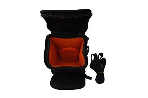 vhbw Tasche Gürteltasche schwarz für Kamera Canon Powershot SX530 HS, SX600 HS, SX610 HS, SX710 HS.