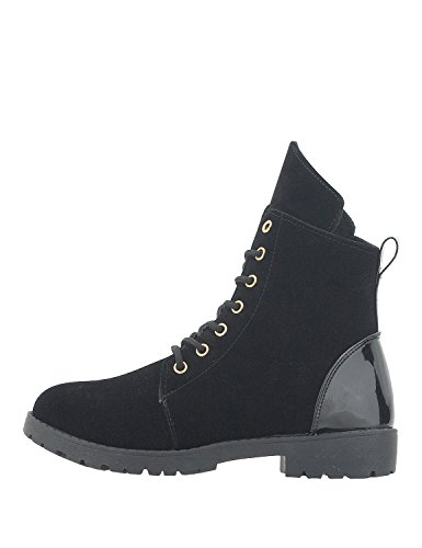 NIKKI ME Women's Casual Boots Black AxpjgZtsl