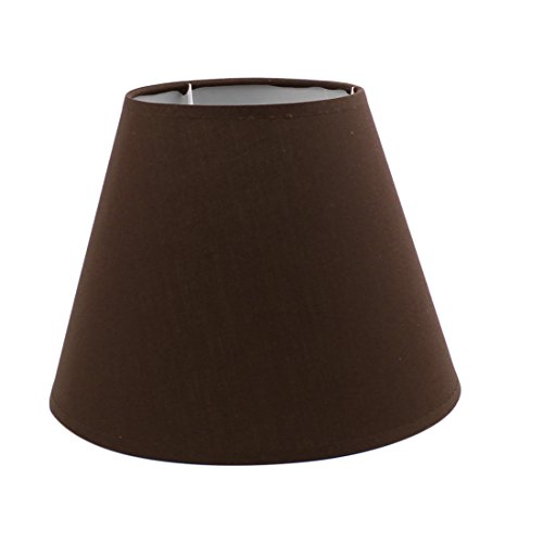 uxcell 130mm x 230mm x 170mmPure Color Table Lamp Shade Brow