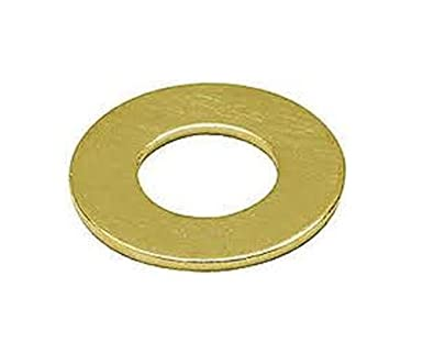 0.2 ID 1//2 OD 0.04 Thick Pack of 100 1//2 OD Pack of 100 Brass Flat Washer 10 Screw Size No Small Parts FSC10LFWB 0.04 Thick Plain Finish 0.2 ID