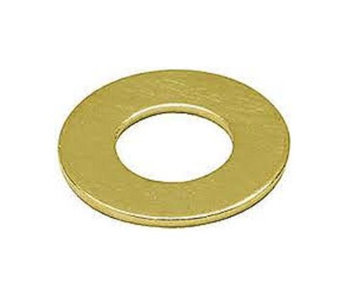 Brass Flat Washer, Plain Finish, 1/2