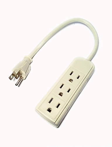 Sansui Home Theater (Uninex PS28E 3-Outlet Power Strip 1ft Cord 120 Volt Grounded Power Cord - Beige White)