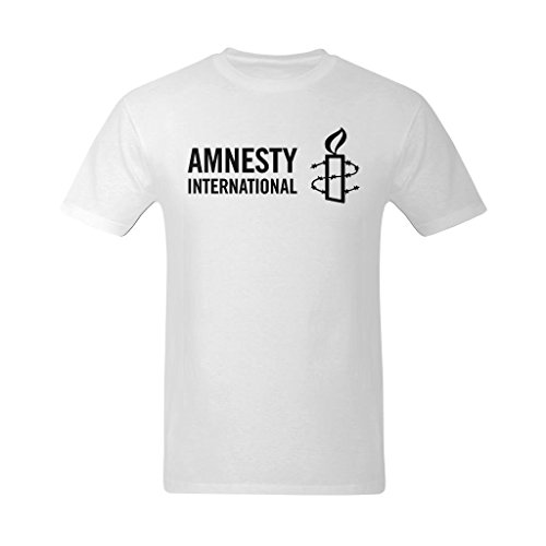 NeloimageMen Black Amnesty International Logo Design T-Shirts