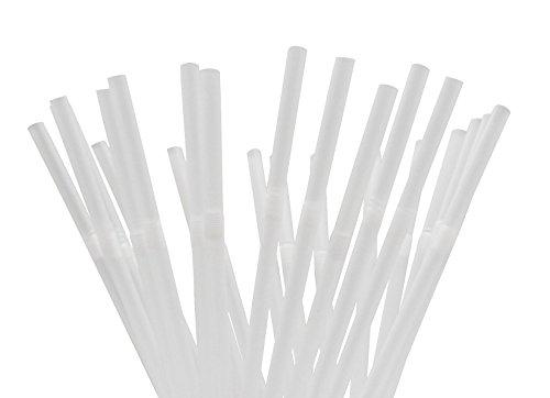 250 Flexible Drinking Straws (WHITE) -
