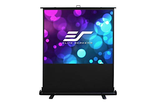 Elite Screens Ezcinema 2, Portable Manual Floor Pull Up with Scissor Backed Projector Screen, 84-Inch, Home Theater Office Classroom Projection Screen with Carrying Bag, F84XWV2