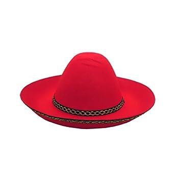 DRIM DISCOUNT Sombrero Mejicano Pequeño Rojo  Amazon.es  Juguetes y juegos 60da9c9f456
