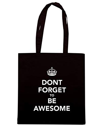 Speed AWESOME Shopper BE Borsa FORGET Nera DONT Shirt TKC3676 TO rw1f4arqx