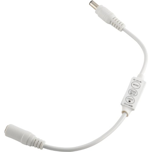 ABI Low Profile Inline Dimmer Switch for LED Strip Lights, Ribbon Lights (White)