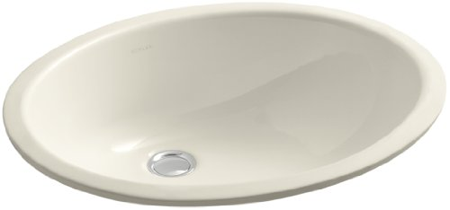 KOHLER K-2210-47 Caxton Undercounter Bathroom Sink, Almond
