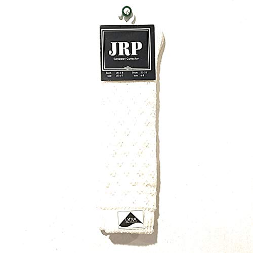- JRP European Collection Knee High Socks Toddler Girls Kids Children Clothing Accessory Cotton Blend White Color Size 6-7 Fits Ages 2-4 Year Old Crochet - 2 RN69576