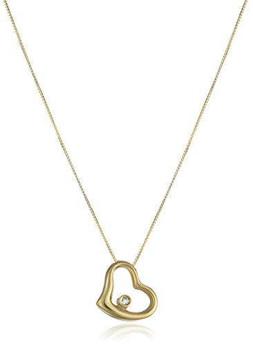 Roberto Coin Tiny Treasures Slanted Baby Heart Yellow Pendant (Baby Diamond Heart Pendant)