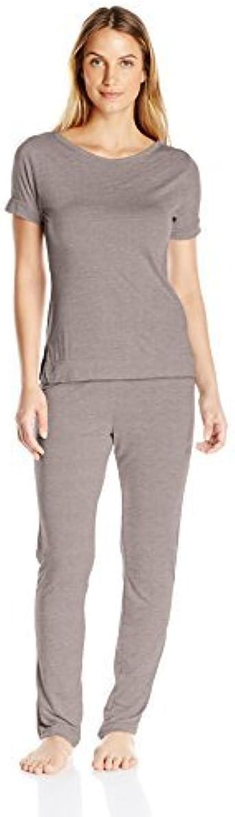 Calvin Klein Para Mujer Juego de Pijama - Gris -: Amazon.es ...