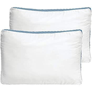 Amazon Com Mdesign King Size Gusseted Quilted Bed Pillow