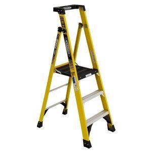 Cap 3' Casters (Werner Ladder PD7303 Werner Type IA Aluminum Podium Ladder, 3')
