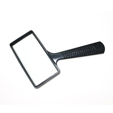 (5X Rectangle Handheld Magnifying Glass Magnifier Portable High Definition lens Loupe Reading Magnifier)