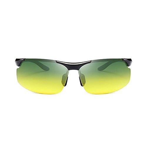 Visión Solar De Gafas Color UVA Anti De Conducción 1 Aire Gafas Polarizada Protección Nocturna Clásico Hombres Luz Noche Sol WYYY De Medio Marco Y Gafas Gafas UV Protección Día 3 Libre 100 wzqxzg