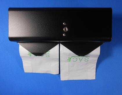 Sanitary Napkin & Tampon Disposal Bag Dispenser - Double Roll Format, Black by S.A.C. (Image #6)