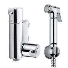 Thermostatic Muslim Shataff Bidet Douche Shower Toilet Spray Chromed Brass Kit Head by E-PLUMB by E-PLUMB