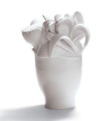 Lladro Porcelain Naturofantastic Small Vase White by Lladro Porcelain