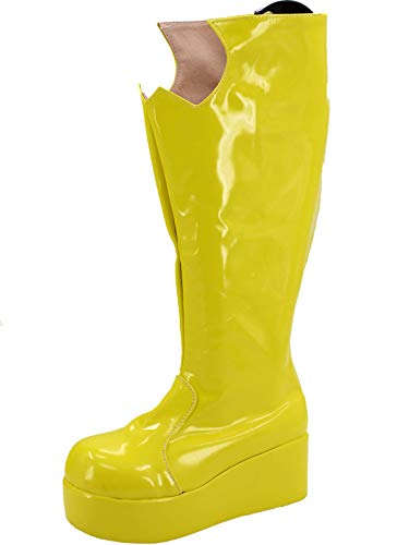 GOTEDDY Girl Boots Halloween Cosplay Leather Platform Shoes