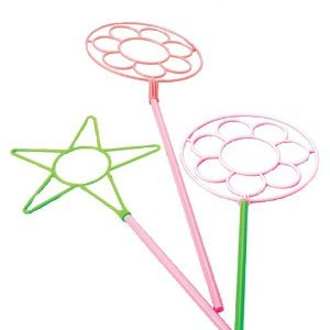 12 Neon Bubble Wands 24 Inches