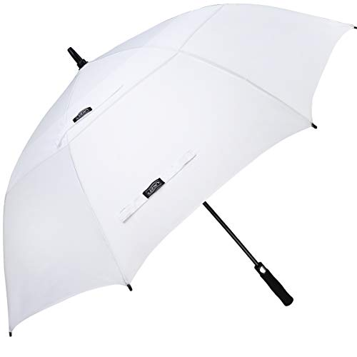 G4Free 68 Inch Automatic Open Golf Umbrella Double White Canopy Wedding Auto Open Extra Large Oversize Windproof Umbrellas(White)