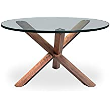 Kardiel Tripod Mid-century Modern Coffee Table, Walnut Wood