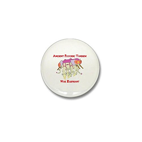 CafePress - Ancient Psychic Tandem War Elephant Mini Button - 1