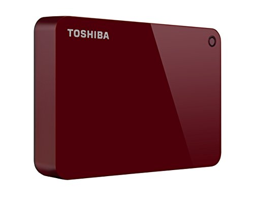 Toshiba Canvio Advance 3TB Portable External Hard Drive USB 3.0, Red (HDTC930XR3CA)