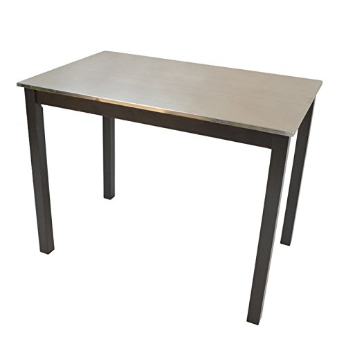 Cottage Counter Height Table (Carolina Cottage Carter Stainless Steel Top Bar Table)