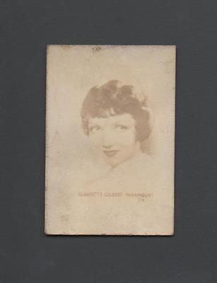 Orbit Helmet - Claudette Colbert Paramount 1932-1933 R308-1 Tattoo Orbit Surprise Photo Card