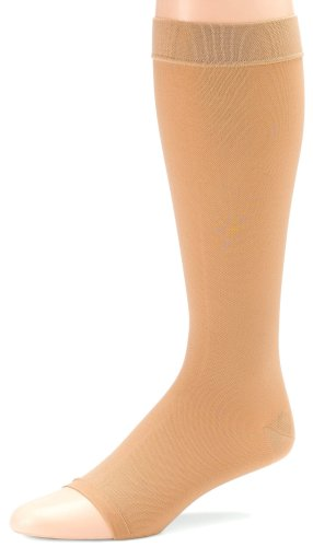 Futuro Therapeutic Support Knee High, Large, Beige, Firm, Open Toe-Reinforced Heel, 1 Pair Box by Futuro