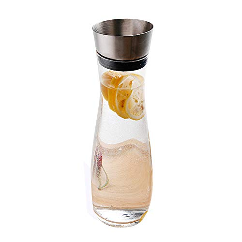 - Pitcher Carafes with Lid for Juice 34 oz Plastic Carafe with Lid for Juice with Lid Decanter Drink Bottle 1 Liter Pitcher Beverage Container Kettle Carafes for Juice Plastic V-type Automatic Cover