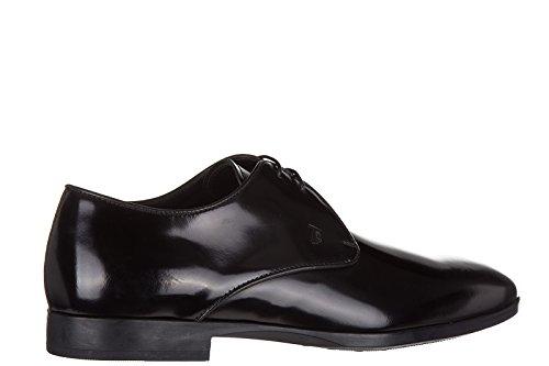 Tod's chaussures à lacets classiques homme en cuir derby noir