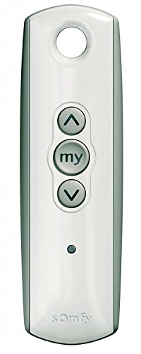 Somfy 1810632 Remote Control Battery - Somfy Telis 1 RTS Pure Remote, 1 Channel Smart window Blinds Home Automation System Home Kit System Somfy Blinds Motor ()