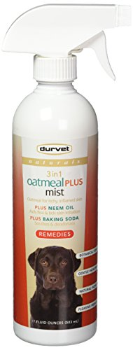 Durvet Naturals Remedies 3 in 1 Oatmeal Plus Mist, 17 Ounces, for Dogs, Soothes Skin and Repels Insects (Dog Mist)