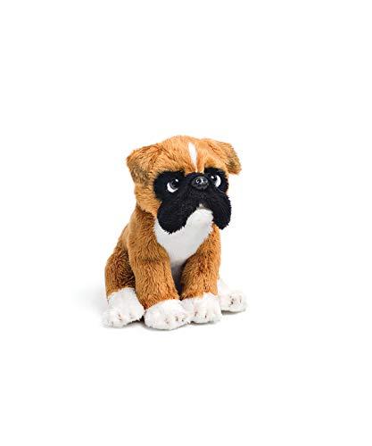 DEMDACO Brown Boxer Dog Children's Plush Beanbag Stuffed Animal Toy