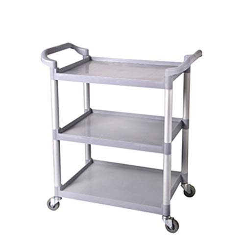 Service trolley Household Round Tube Three-Layer Hand Push Dining Car Delivery Car Hotel Cake Wine Storage Cart