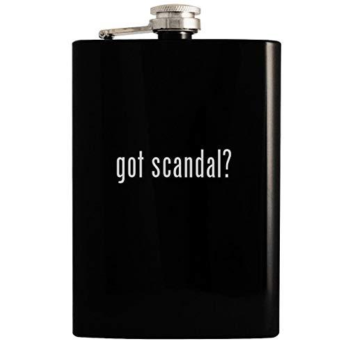 got scandal? - Black 8oz Hip Drinking Alcohol Flask