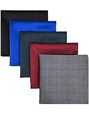 XQWLP 5 piezas colorido surtido para hombre bolsillo cuadrado seda clásico conjunto de pañuelo de pañuelo colorido (Color : B)