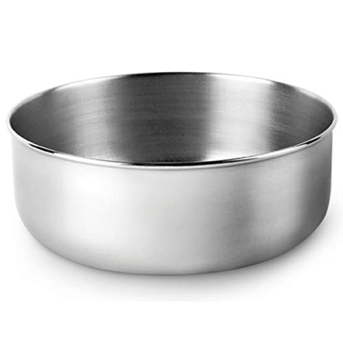 Luvv Dog Bowls Stainless Steel Flat Bottom 14 cm diam for Serving Food, Water, Camping, or Feeding Dog and - Bottom Steel Bowls Flat Stainless