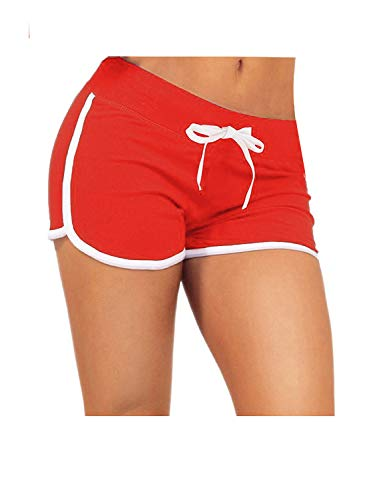 ZITY Activewear Workout Exercise Athletic Jogging Dolphin Yoga Shorts Red S