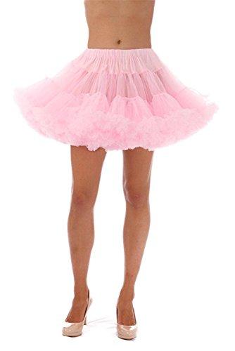 CharmingBridal Short Mini Petticoat Crinoline Half Slip Muiti-Color (Pink) ()