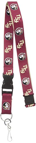 Pro Specialties Group NCAA Florida State Seminoles Two Tone Lanyard, Maroon, One Size