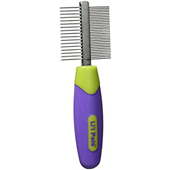 LI'L PALS Double-Sided Comb, Dog Comb, Dog Brushes for Grooming, Pet Brush, Dog Supplies, Puppy Supplies