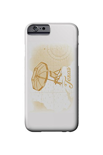 Texas - Beach Chair and Umbrella - Yellow - Coastal Icon (iPhone 6 Cell Phone Case, Slim Barely There)