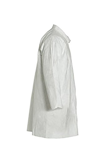 DuPont Tyvek 400 TY212S Disposable Lab Coat with Open Cuff, White, 2X-Large (Pack of 30) by DuPont (Image #2)