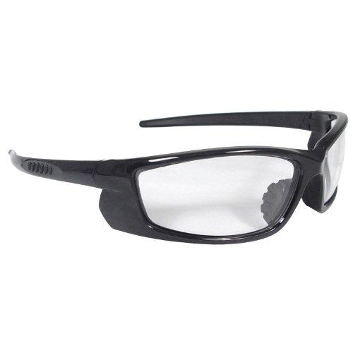 Radians VT1-10 Black Frame Voltage Safety Glasses Clear Lens Rubber - For Rubber Nosepiece Glasses